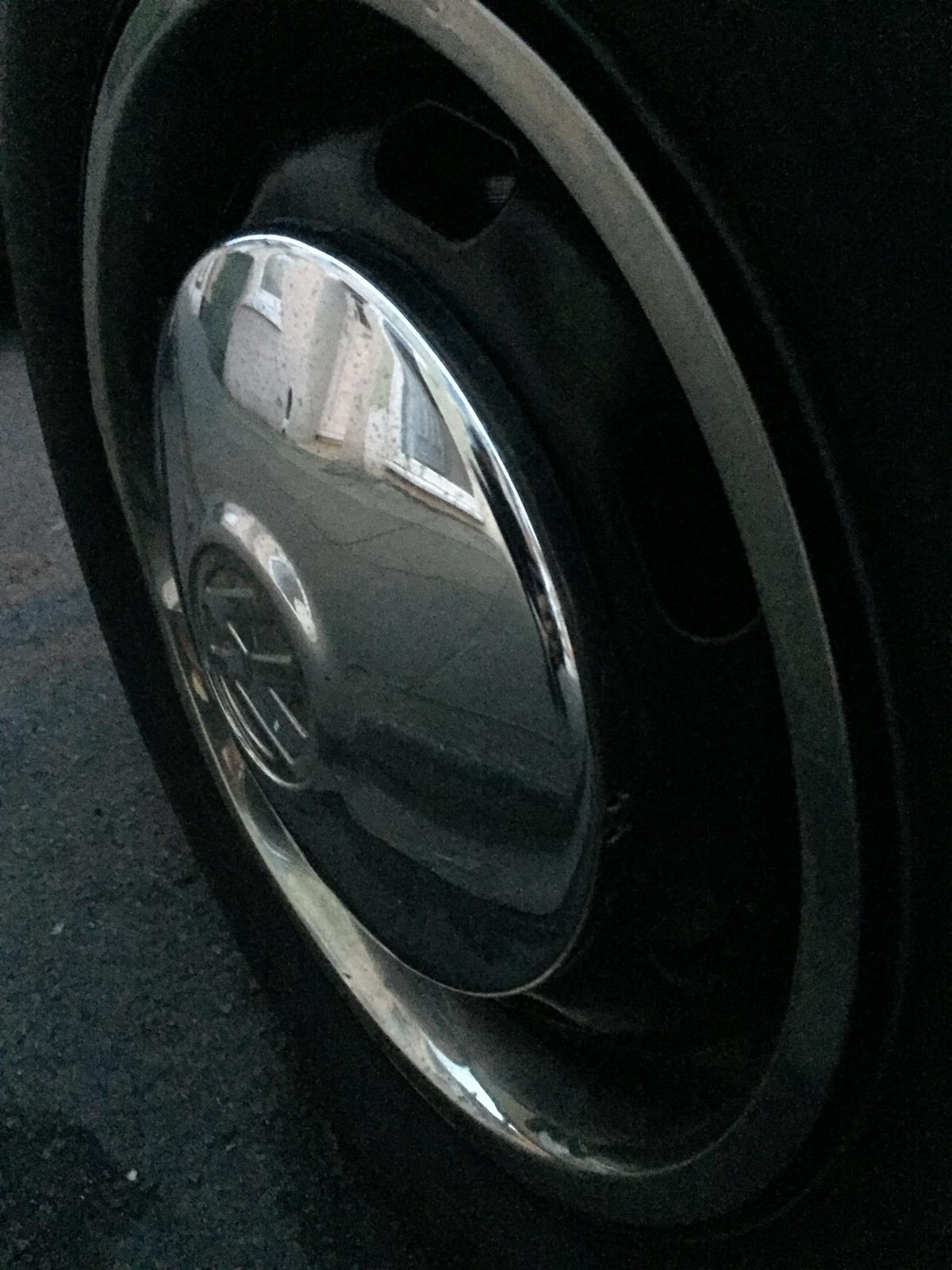 Late Beetle hubcap for comparison on 67 1500 one