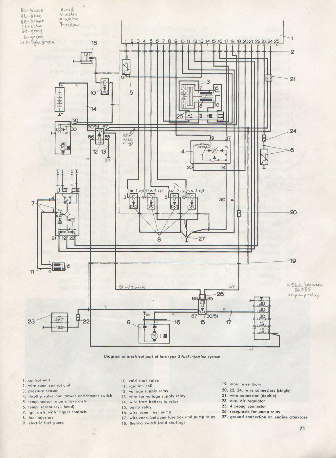 Type 3 View Topic Fuel Pump Relay Help Electric Wiring Schematic Image May Have Been Reduced In Size Click To Fullscreen