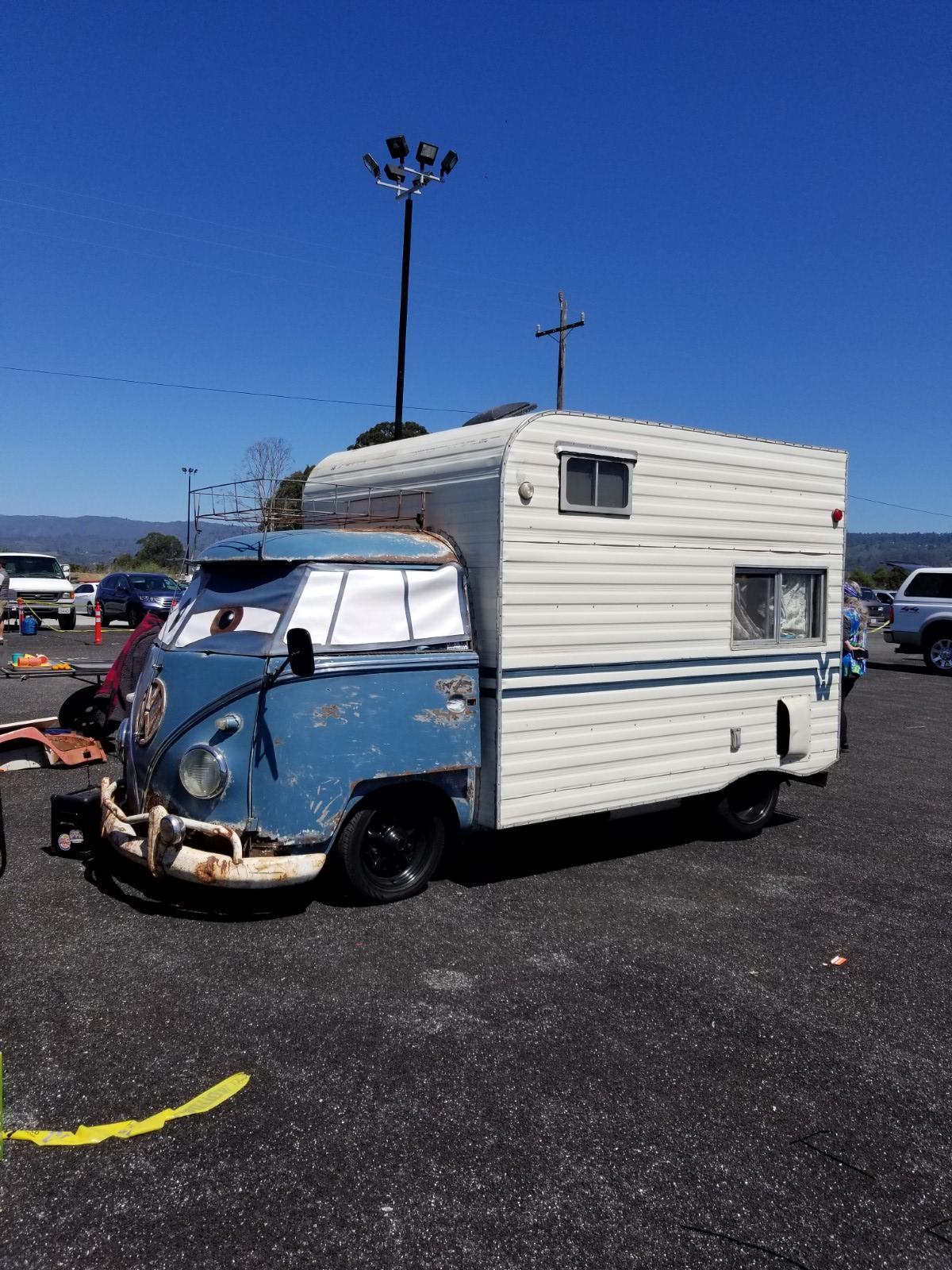 Dove Blue large camper