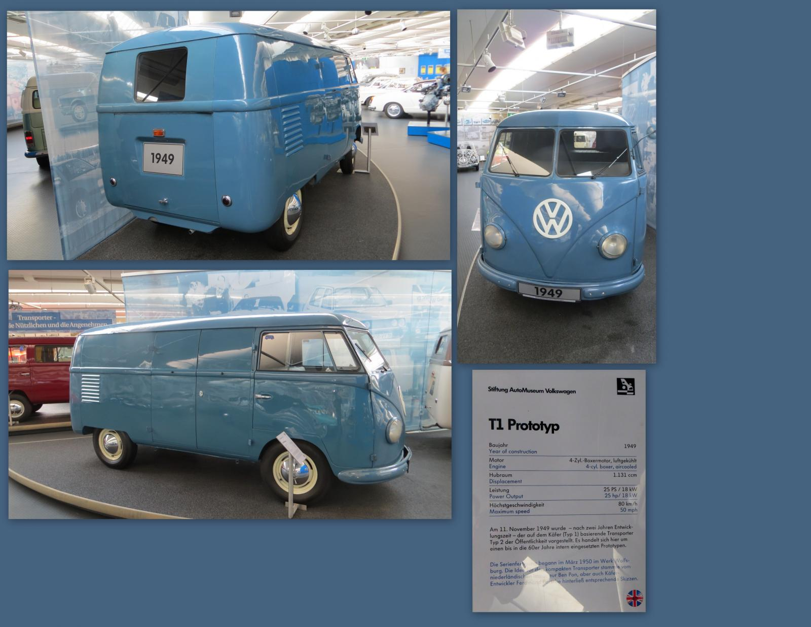 1949 T1 Prototype at the Stiftung AutoMuseum Volkswagen in Wolfsburg, Germany