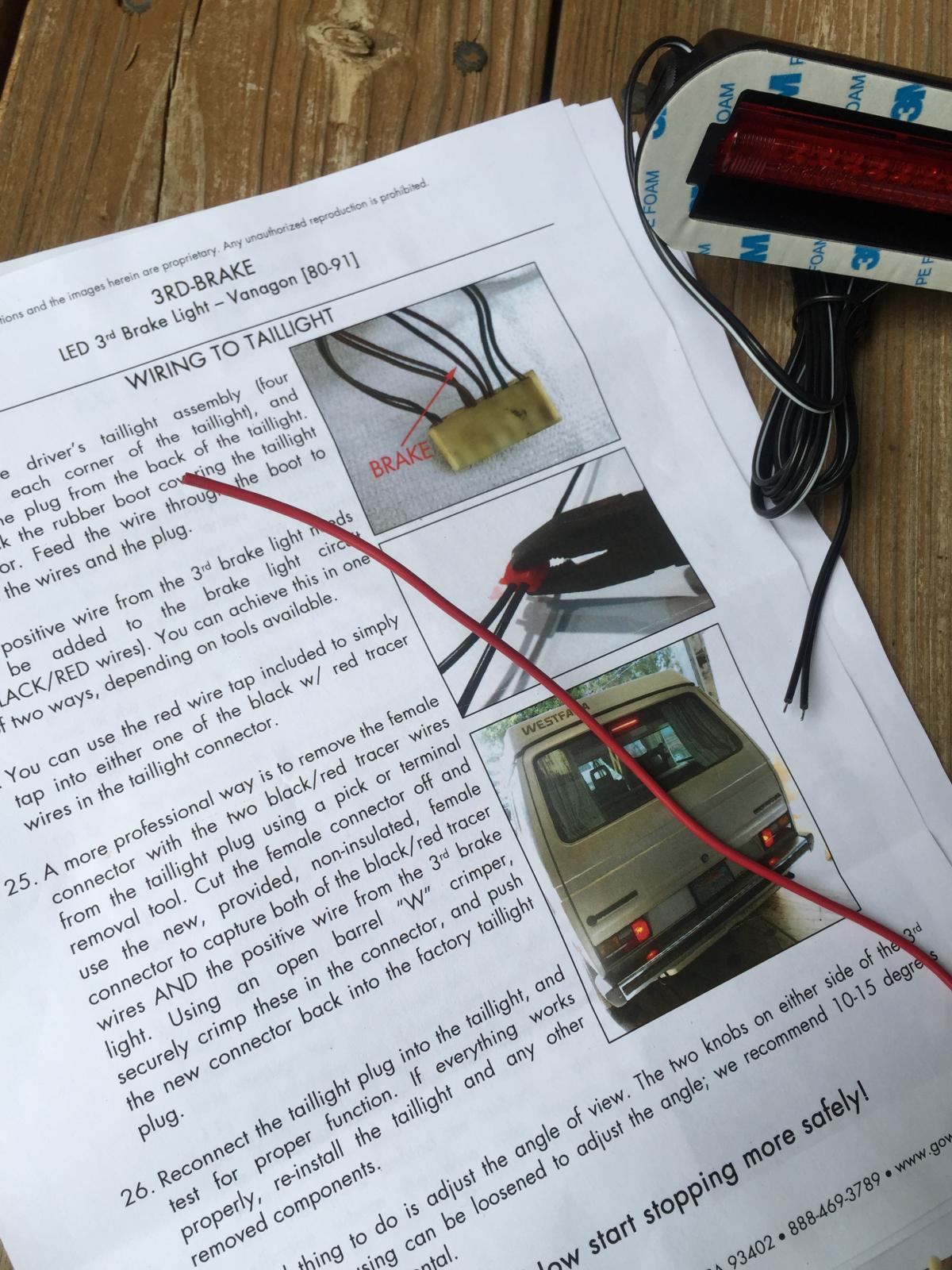 TheSamba.com :: Vanagon - View topic - GW 3rd brake light kit, and ...