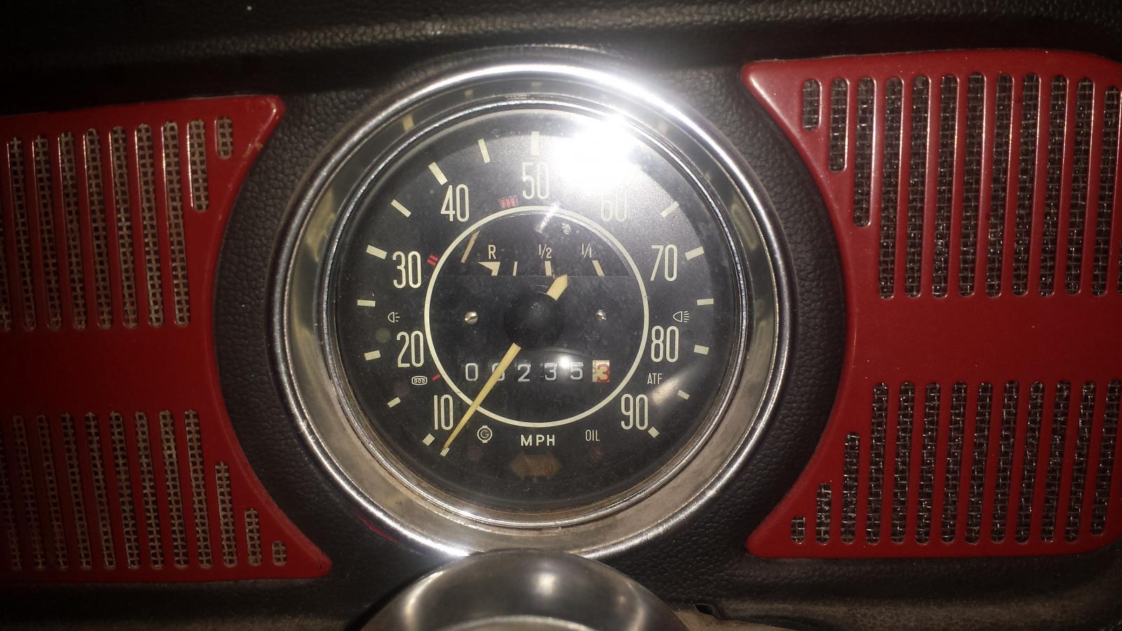 1969 speedometer