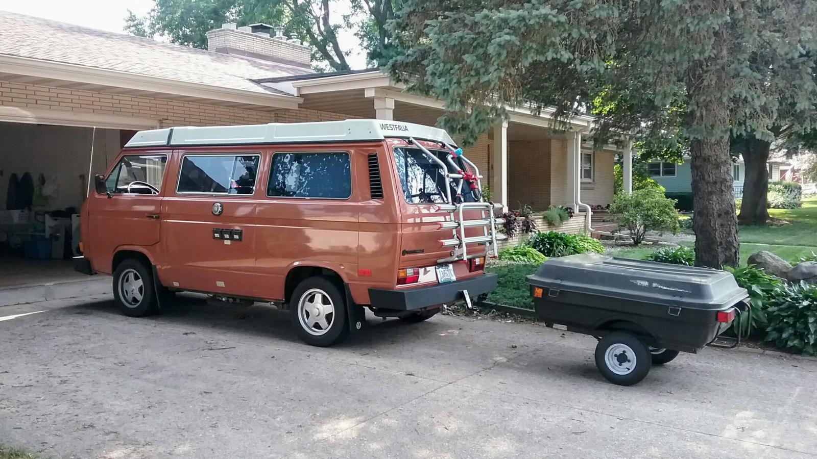 Vanagon with Coleman Caboose Trailer