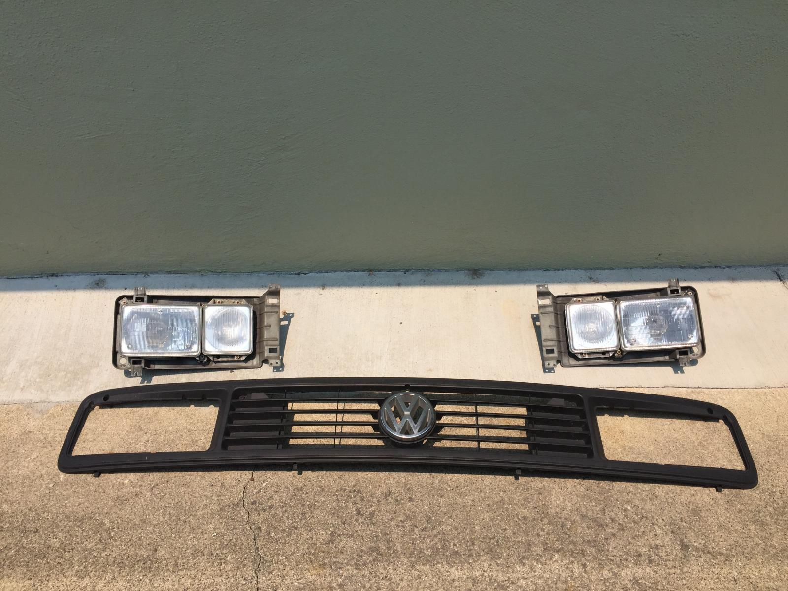 Late Model Vanagon Square Light Grill and Headlights