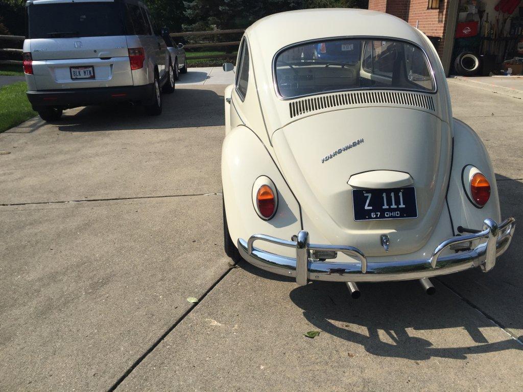 Vintage 190 alloy wheels on '67 bug