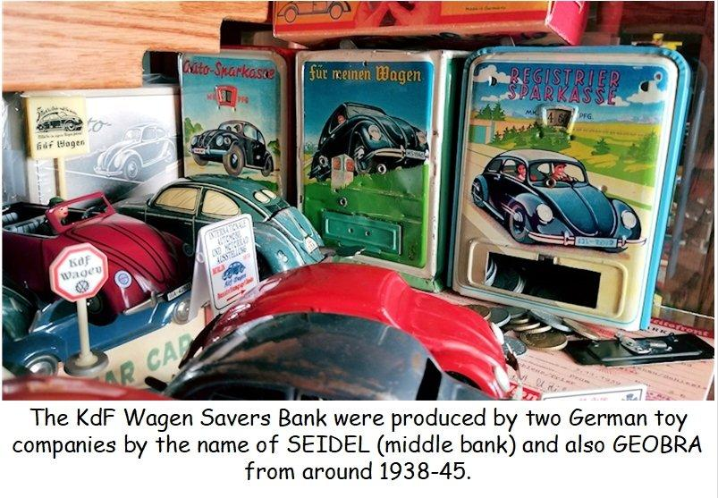 Early 1940s Seidel KdF Wagen Savers Bank - Spardose - Germany