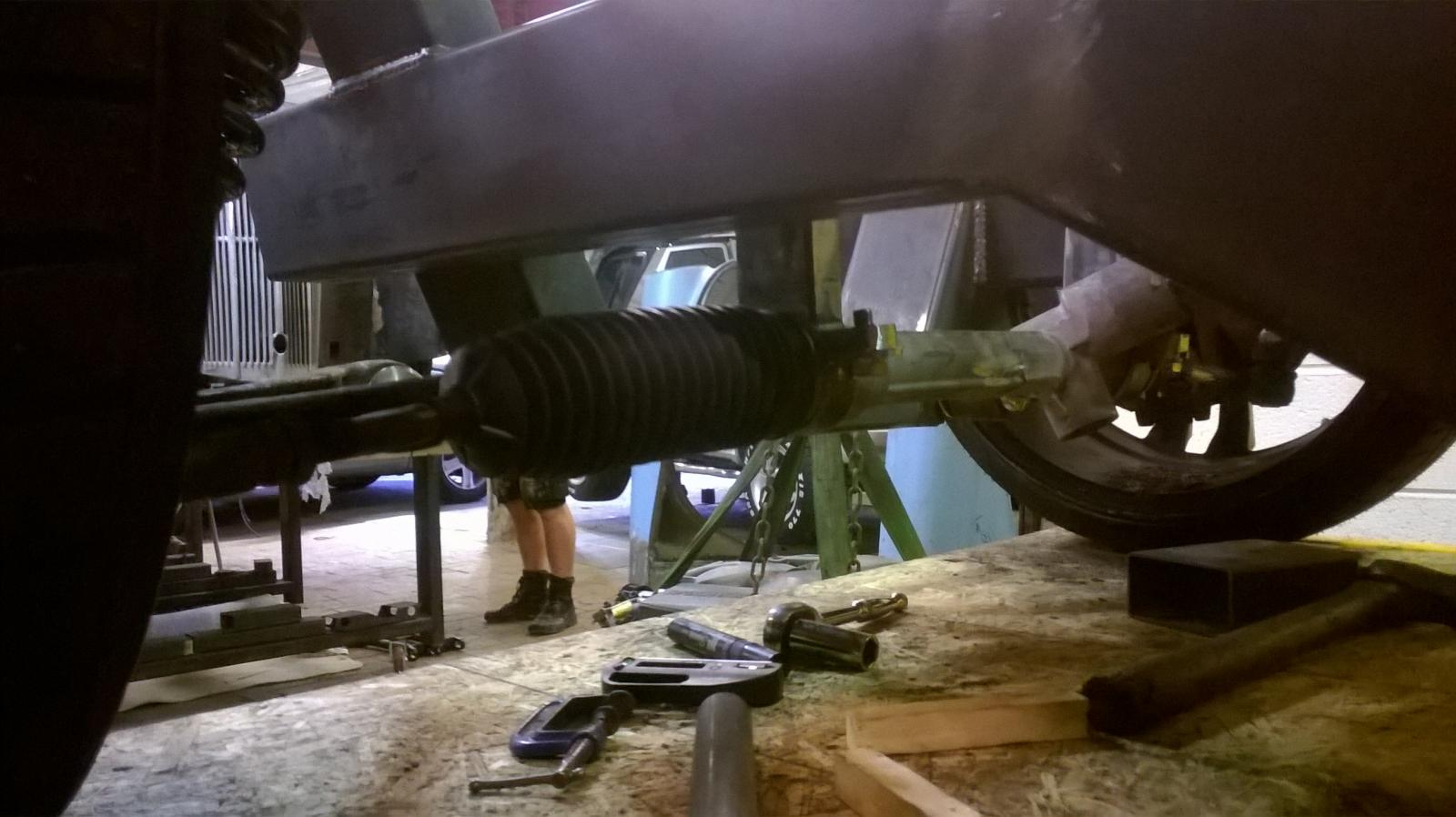 narrowed mk6 fiesta steering rack