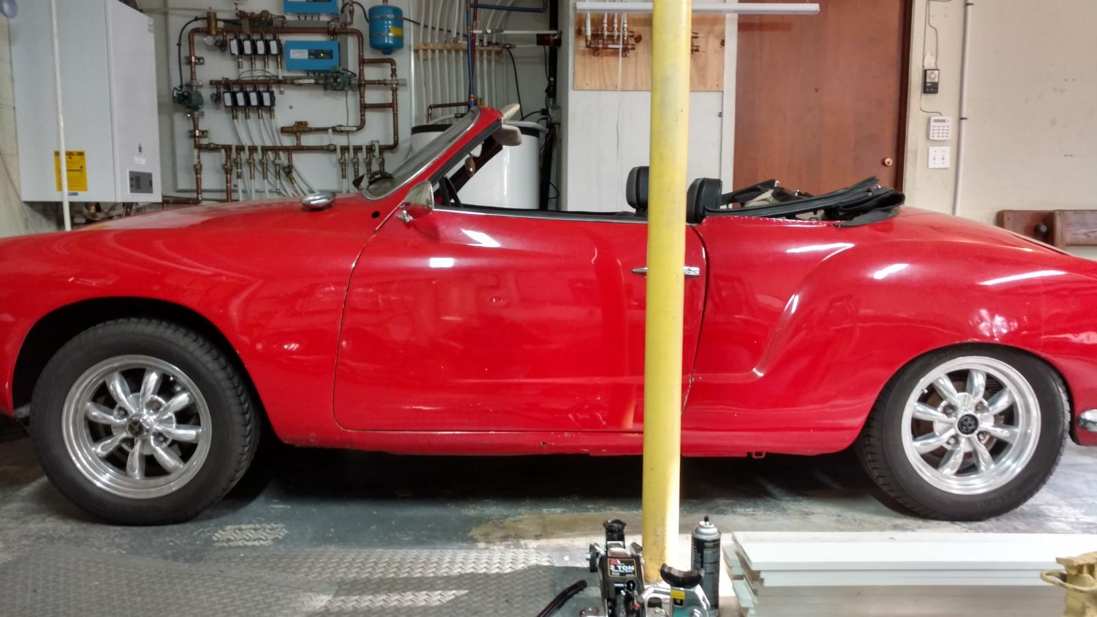 Ghia Sagging Rear? Or wrong tire size