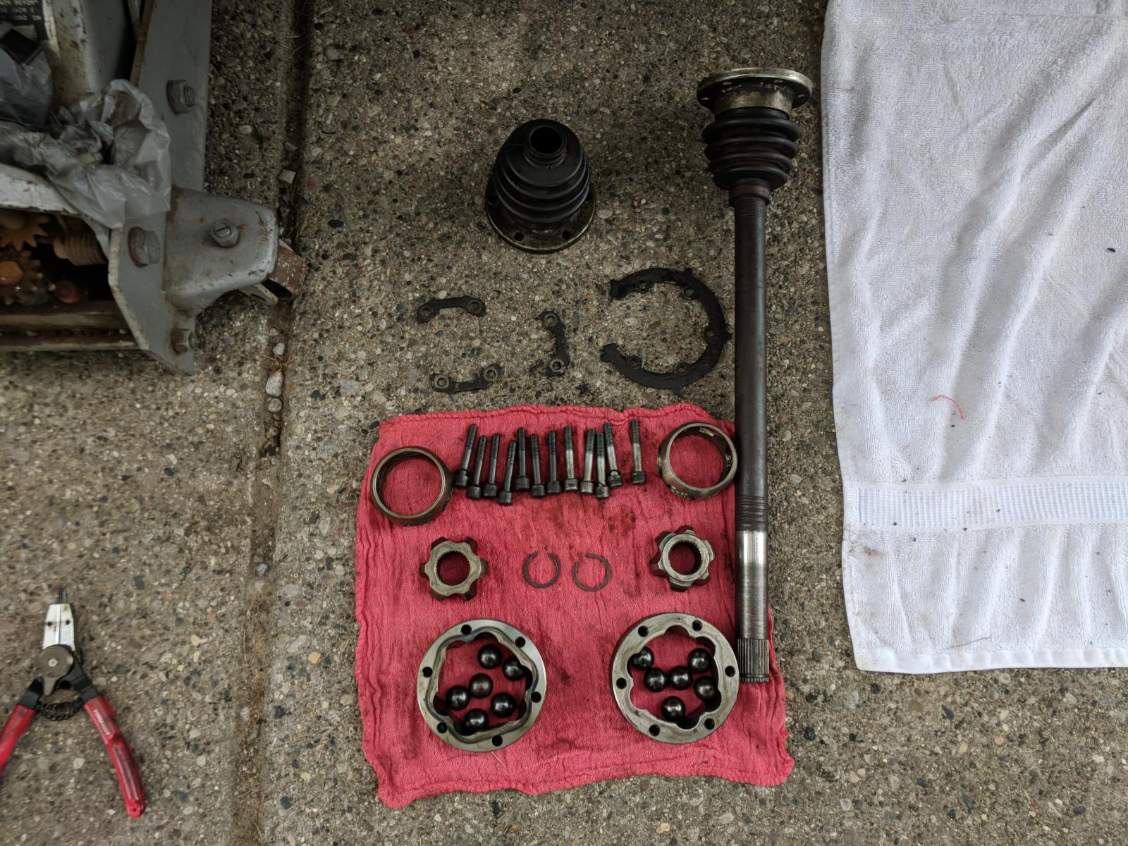 Syncro axle/CV rebuild