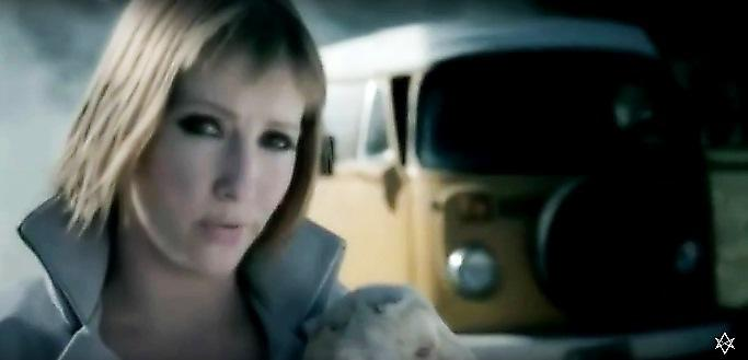 music video w/ VW bus