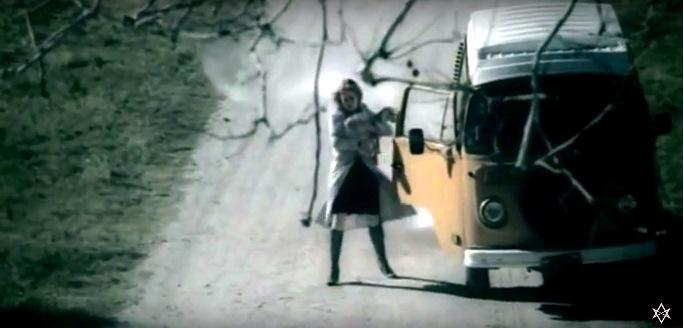 music video w/ VW bus