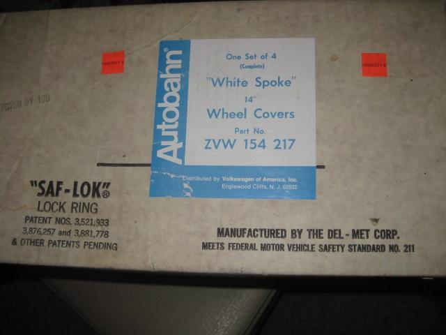 "VOA 14"" White Spoke Wheel Covers"