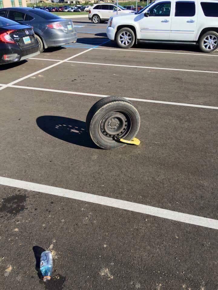 Vanagon wheel in parking lot