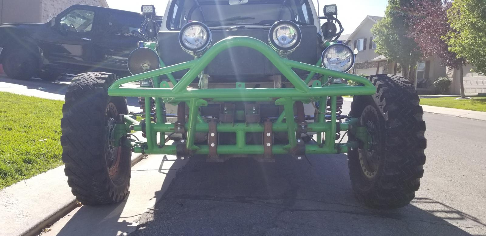 """6"""" widened front beam with 10"""" coil overs"""