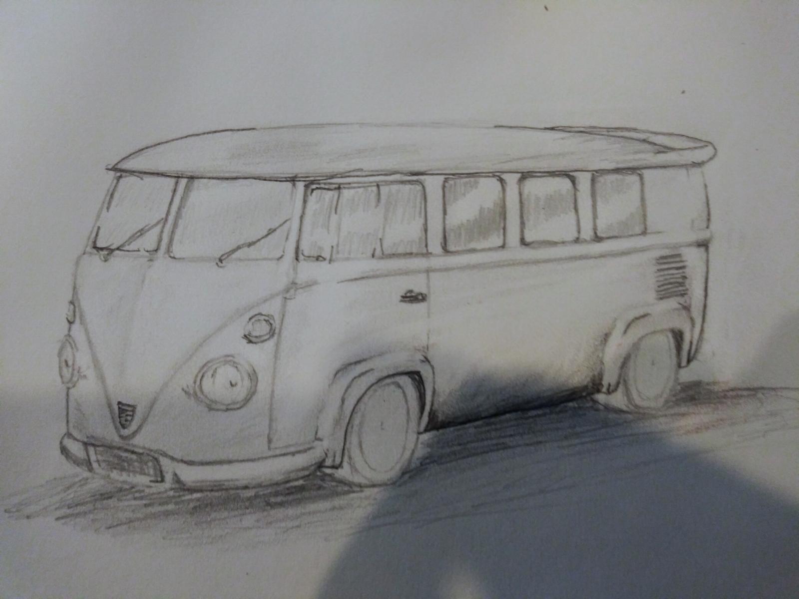Quik sketch of ideas for the honda bus