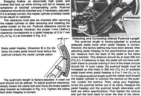 Brake pedal adjustment