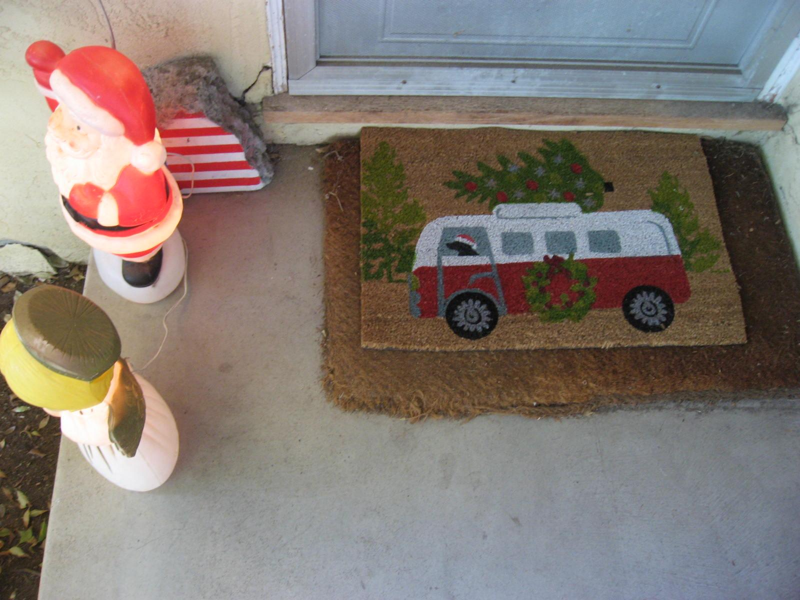 Holiday VW Bus door mat