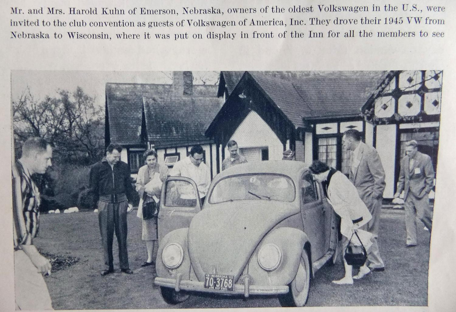 Oldest Beetle in USA in 1960