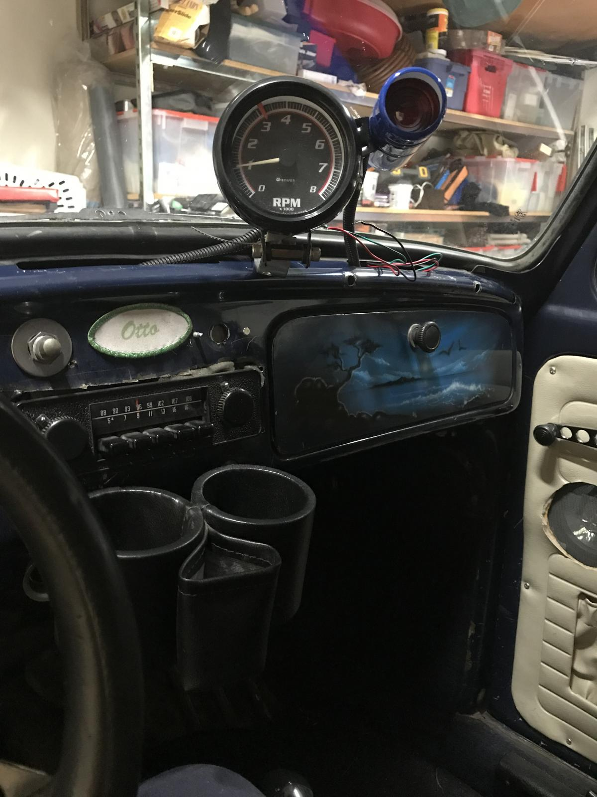Installing tach and shift light