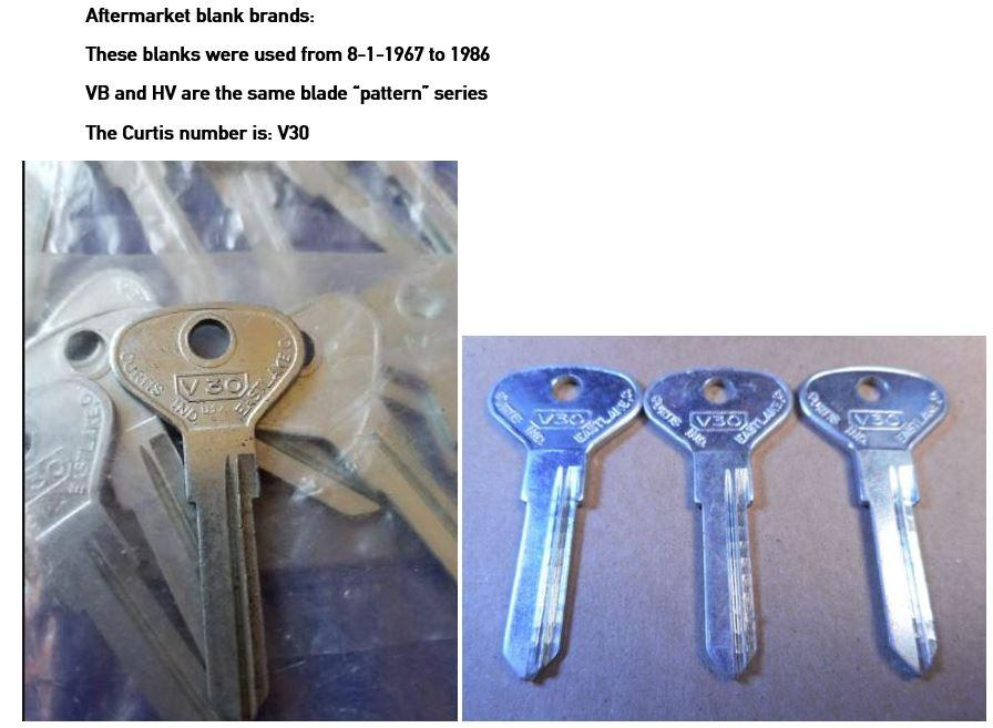 VW 411 and 412 keys