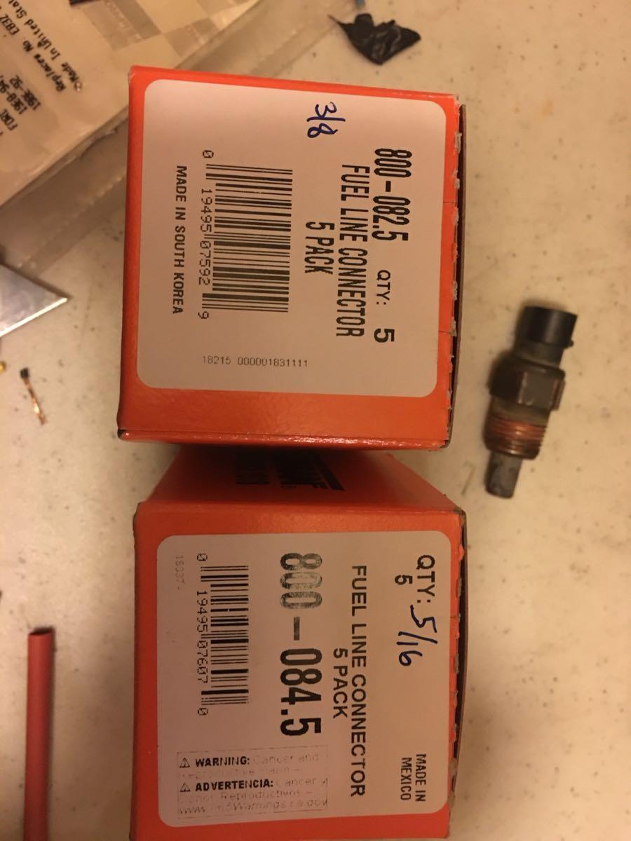 Nylon fuel line fittings press