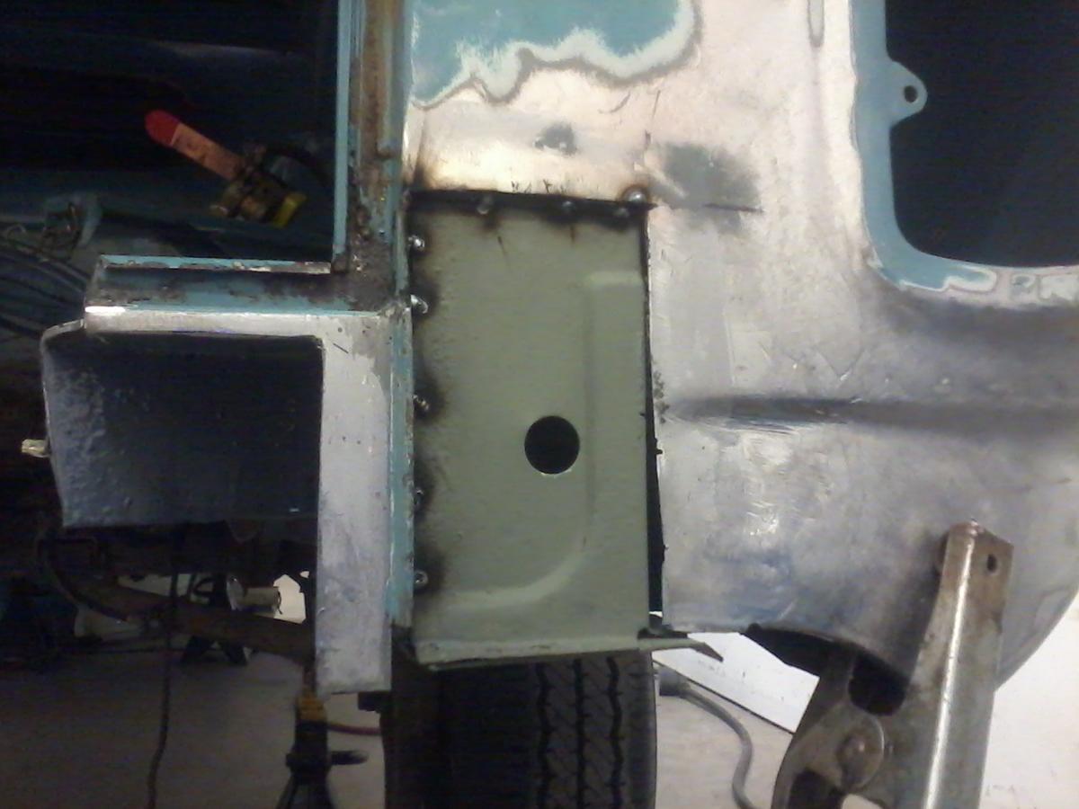 rear access holes and valence repair