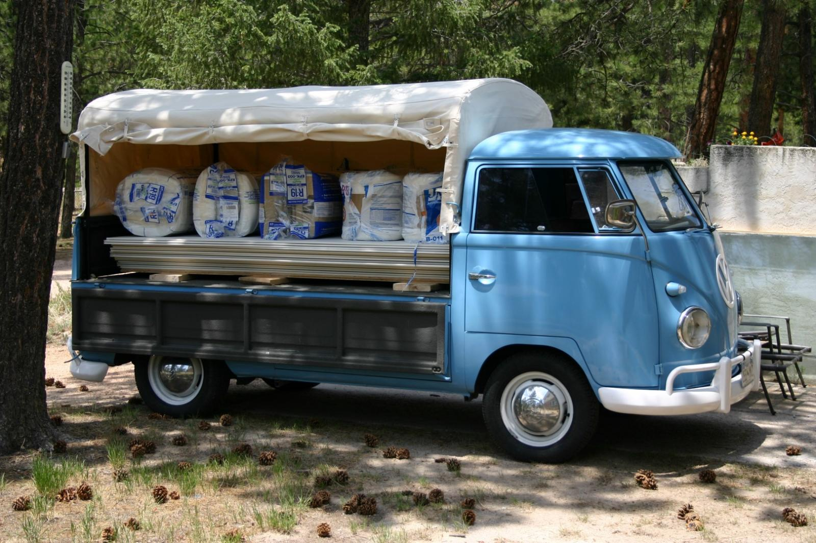 Single cab with load