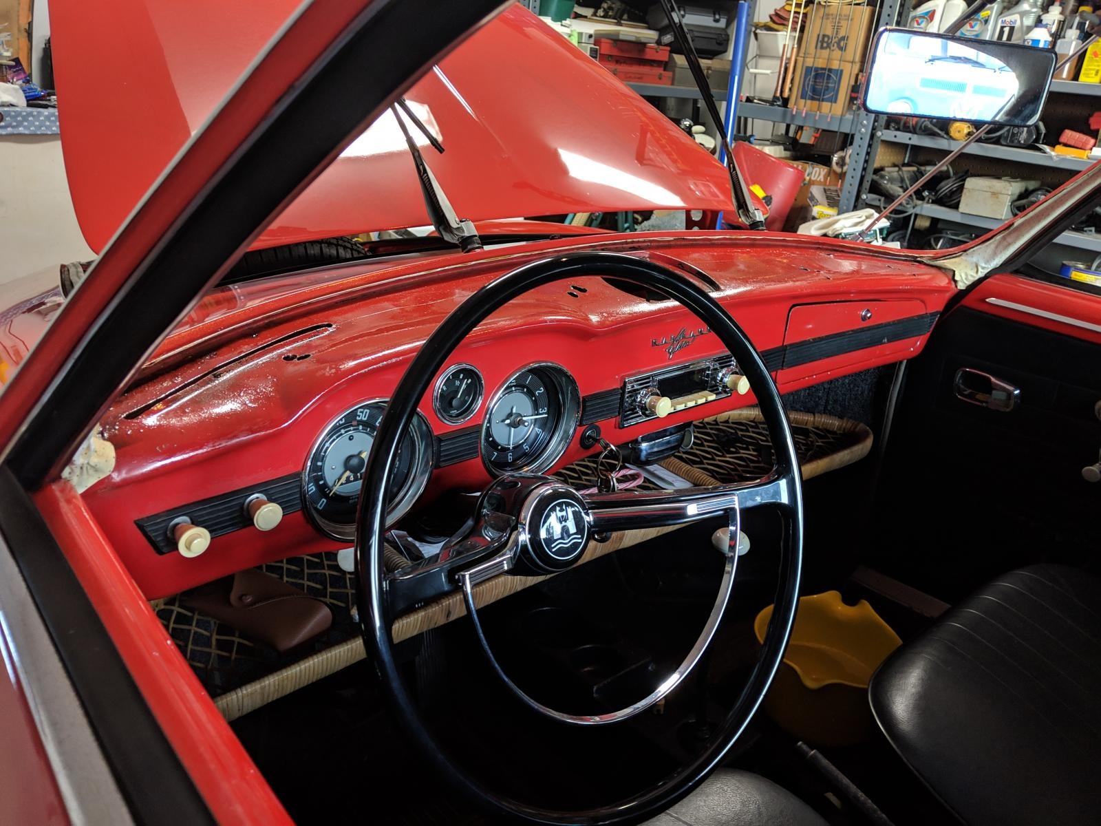 66 ghia dash without pad