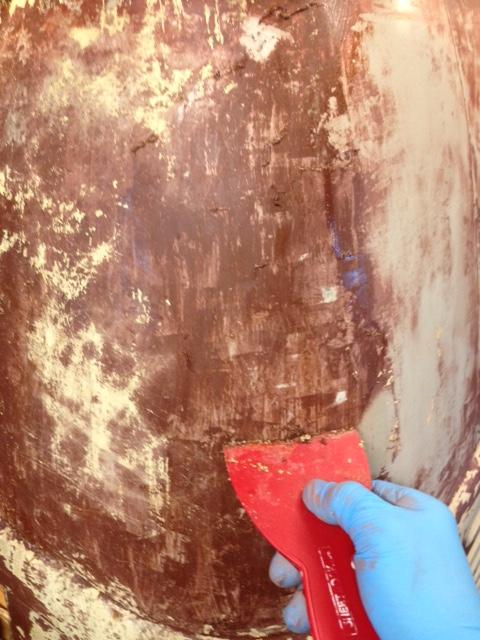 63 camper paint removal