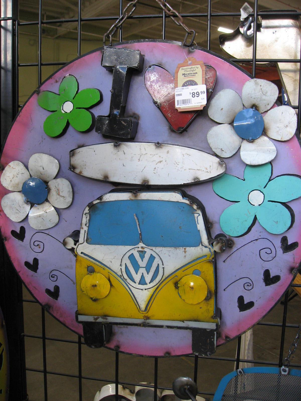 VW bus yard art