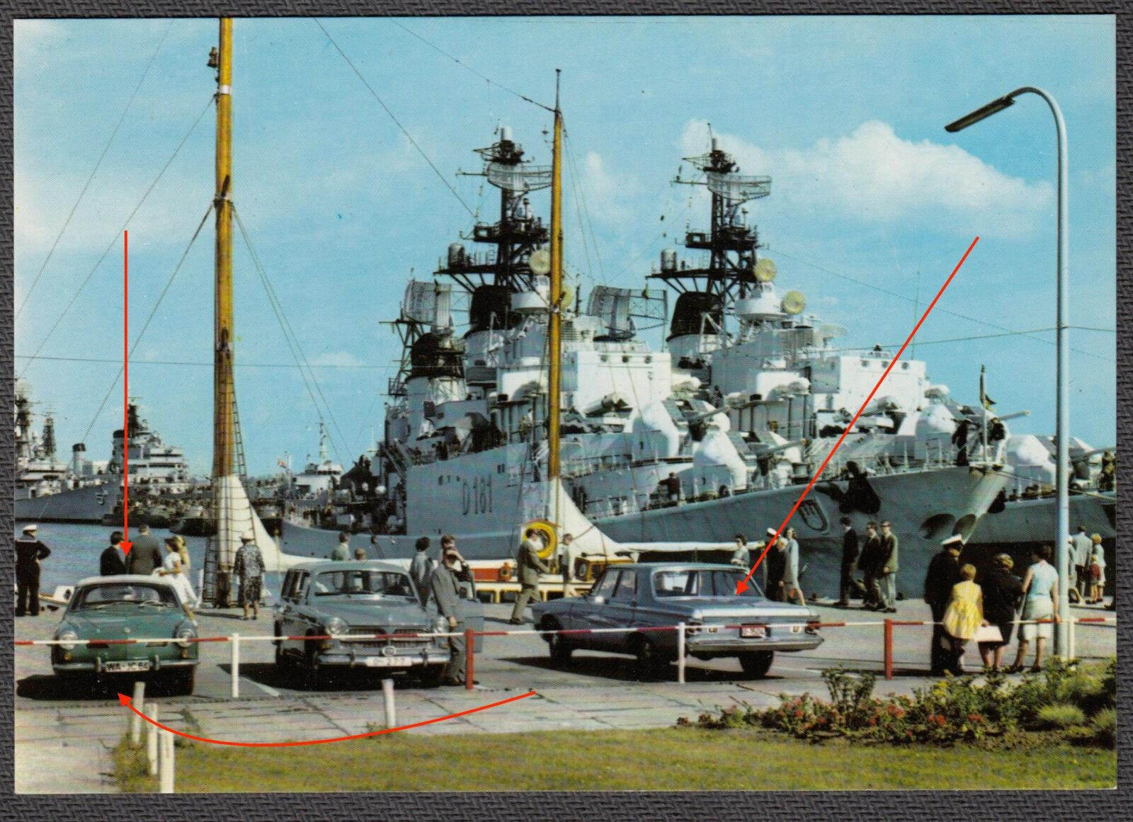 Ghia by destroyer in Hamburg