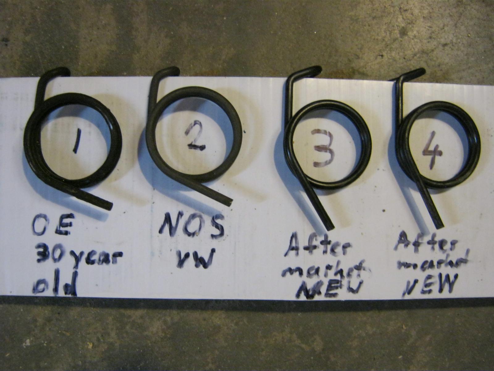 clutch shaft return spring Original VW vs. aftermarket  113 141 723