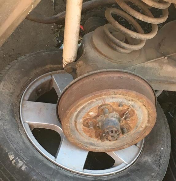 Mystery alloy wheel