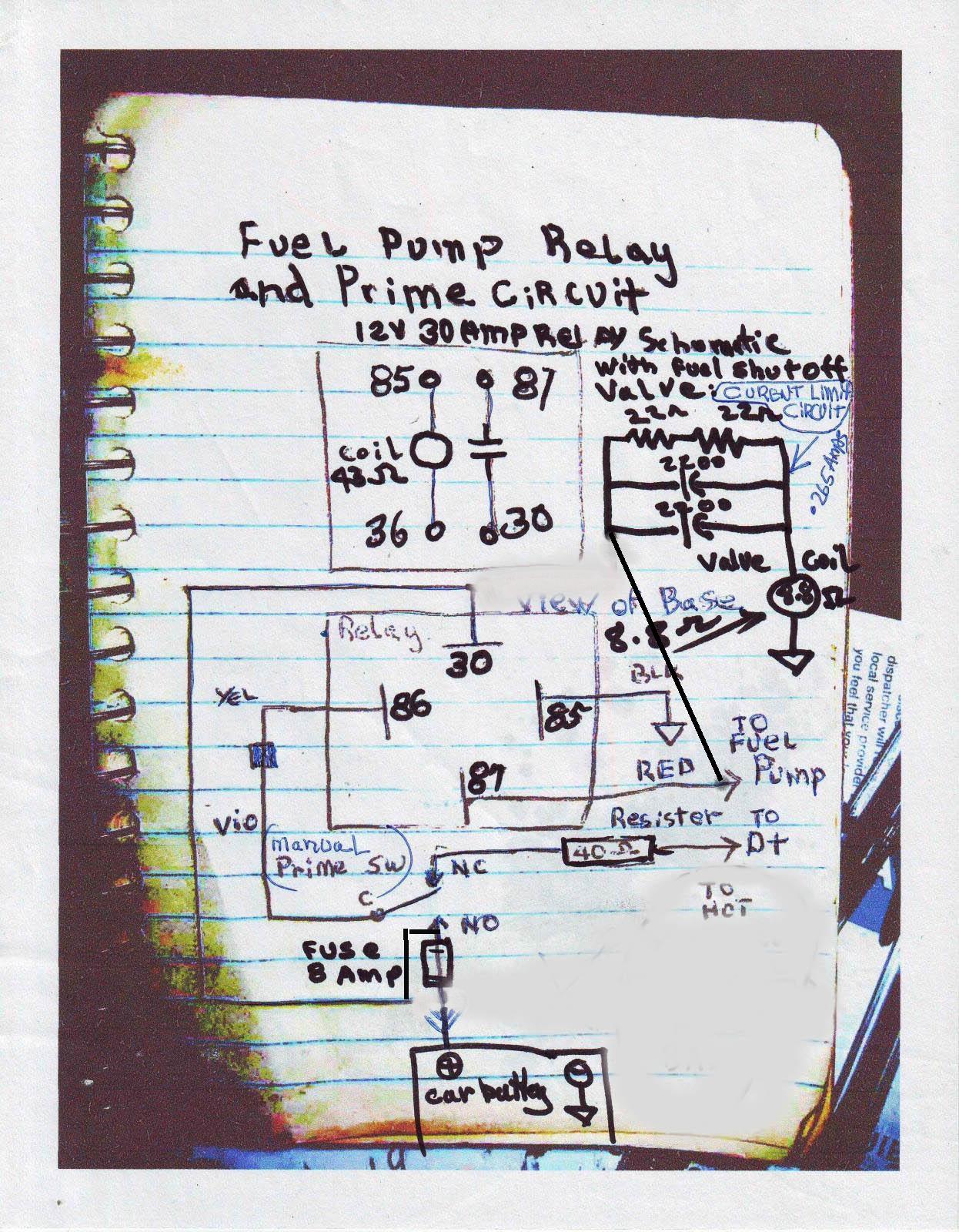 Fuel Pump wiring with Shutoff Valve update