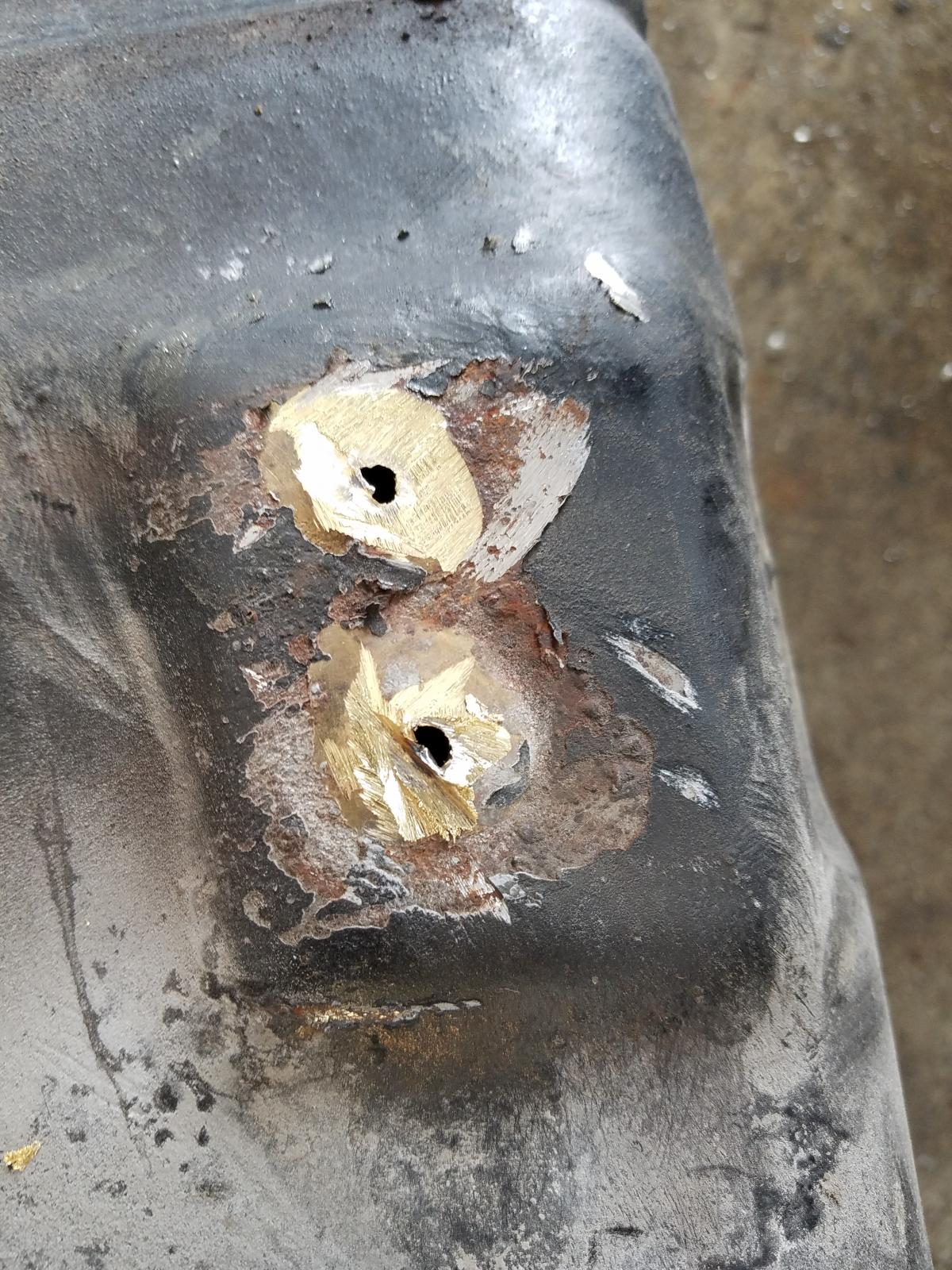 fuel tank outlet repair