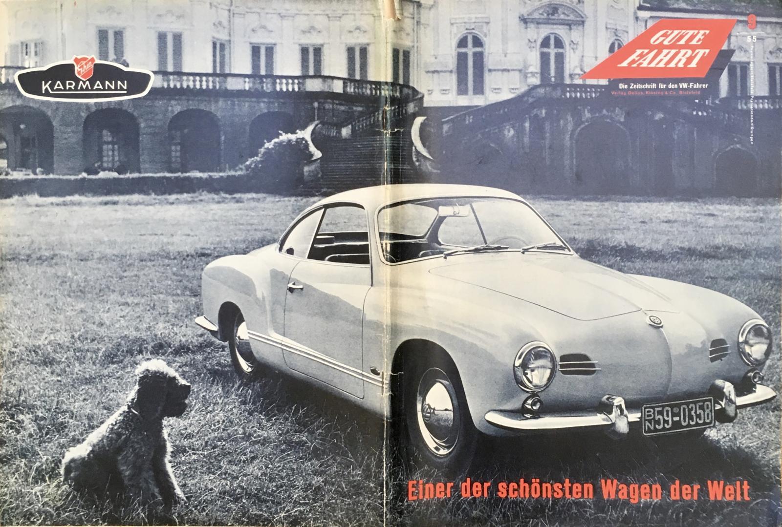 1955 Gazelle beige lowlight Karmann Ghia coupe