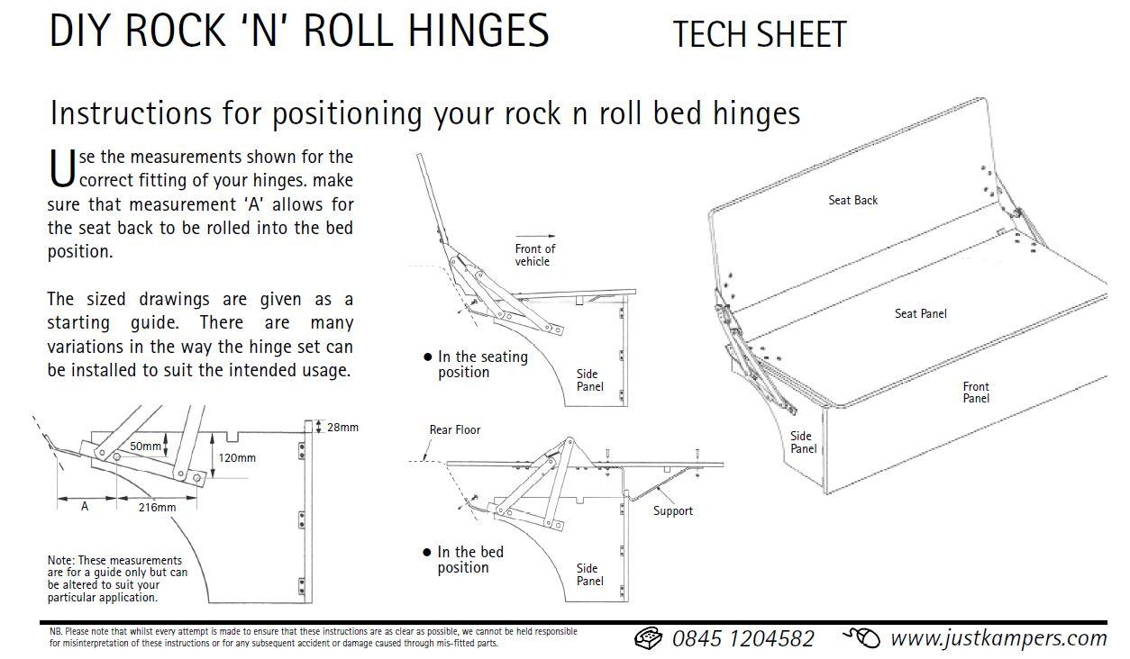 JK rock and roll bed directions