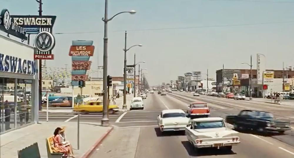 """Long Beach, Calif. VW dealer inVWs in """"It's a Mad, Mad, Mad, Mad World"""" (1963)"""