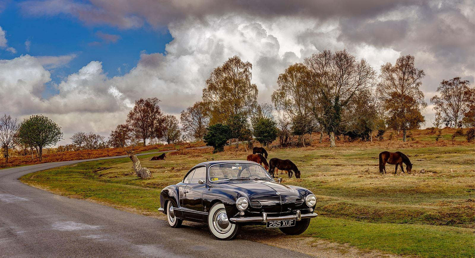My '58 Karmann Ghia Birthday Outing
