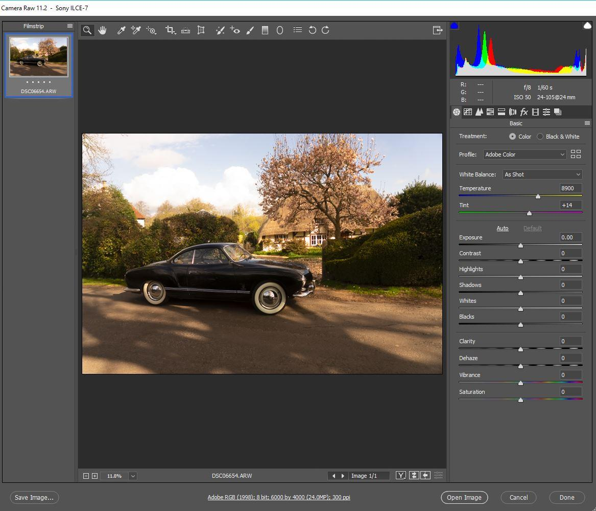 Processing my Karmann Ghia pictures