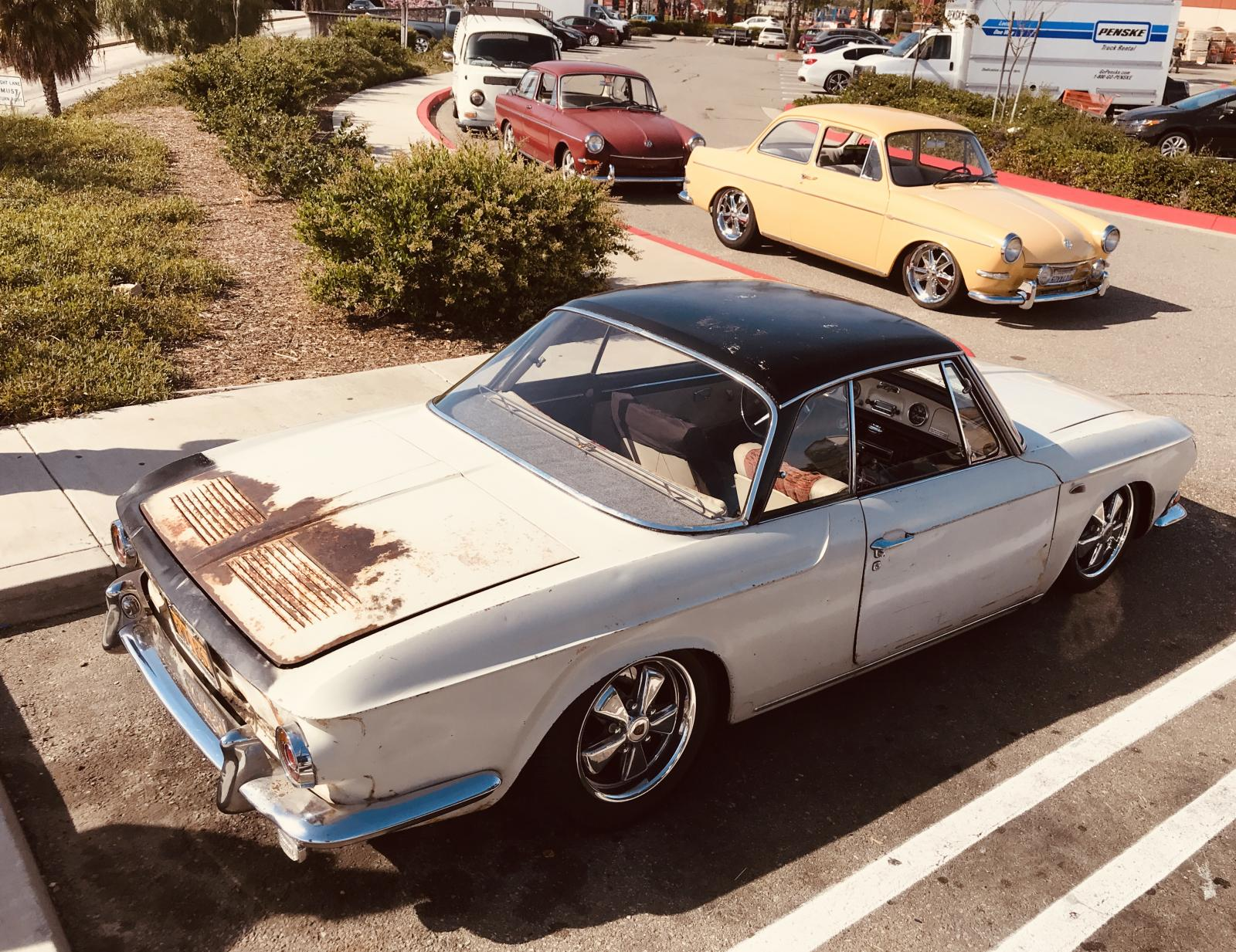 H2O Negative VW Squadron April 2019 Meet In N Out Burger Signal Hill Type 3 34 Ghia Cal Look Slammed Narrowed Fuchs Earlies Original Paint