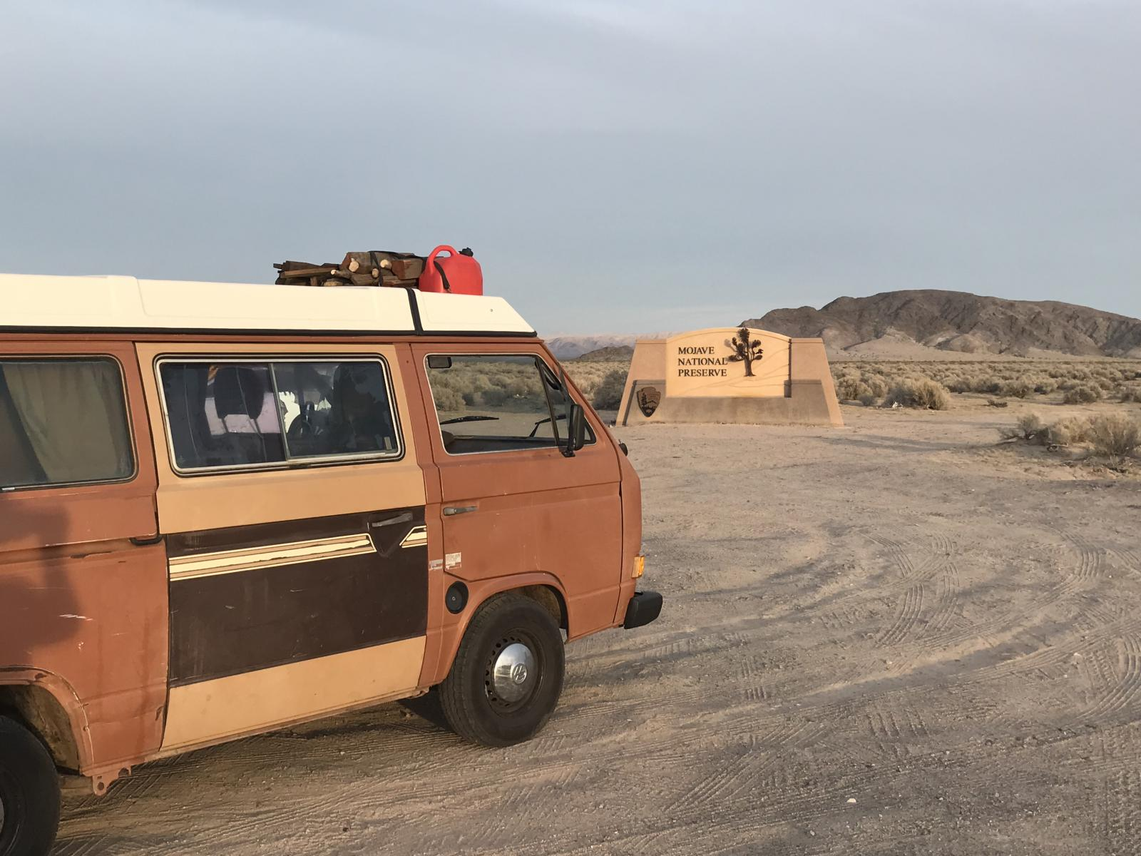 First roadtrip Mojave Desert Westy