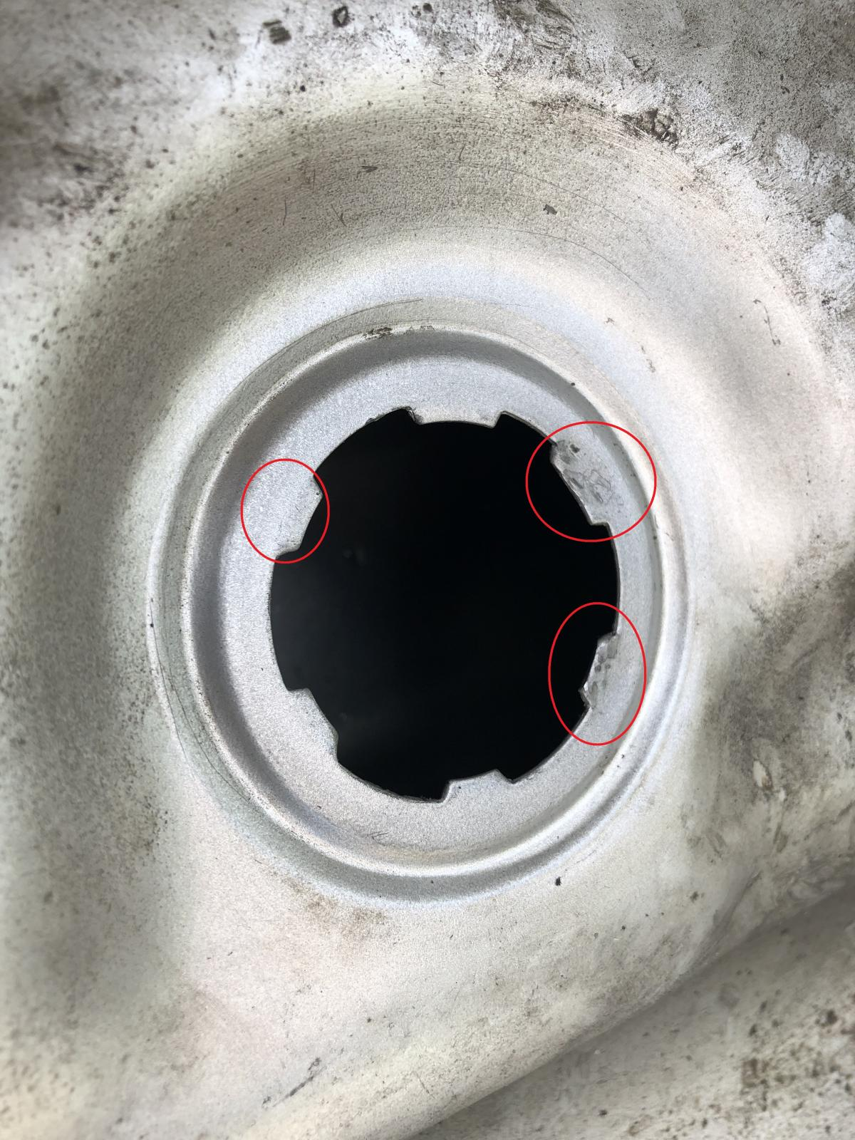 Fuel tank reseal - level sensor leak