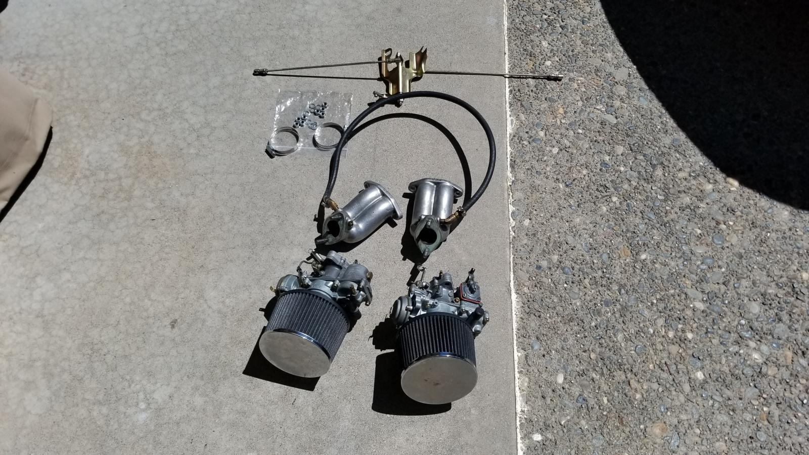 dual carbs for vw bug  scat carburetors