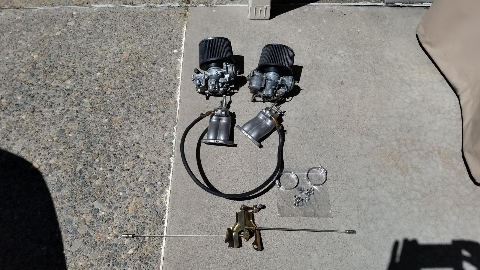 dual carbs for vw bug  scat carburetors