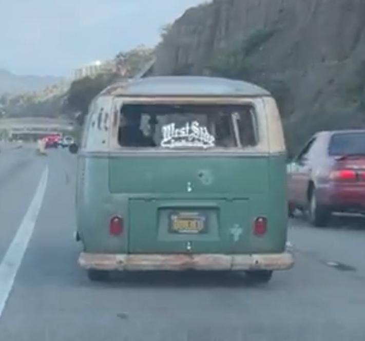 Bus hauling ass