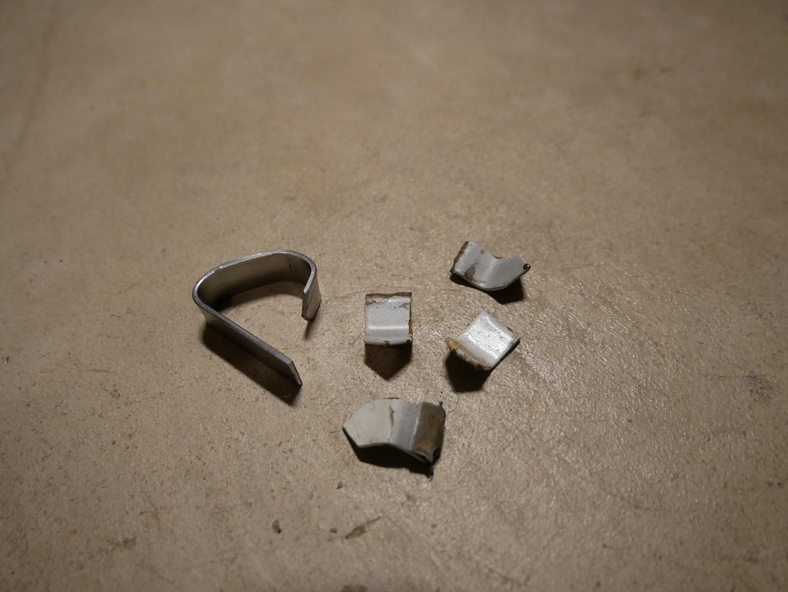 metal tabs for headliner rod