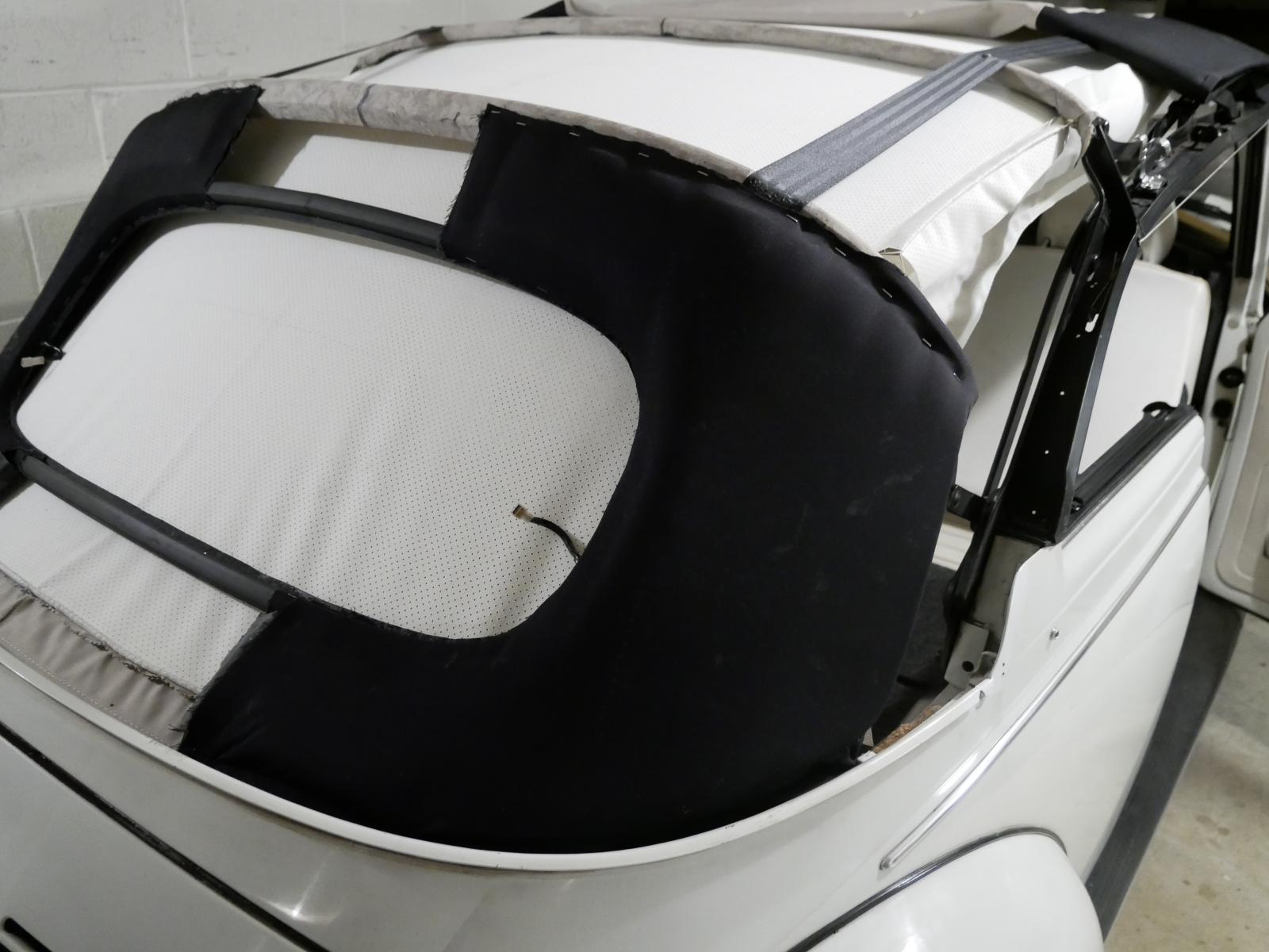 '79 Super Beetle convertible top quarter pad install