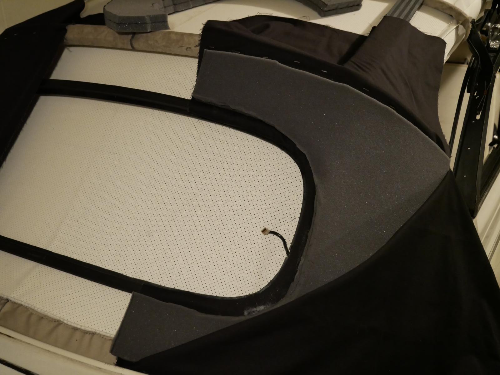 '79 Super Beetle convertible top quarter pad install