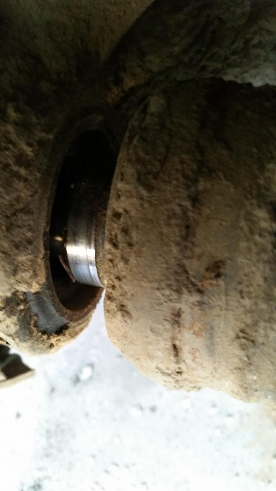 Axle shaft displaced